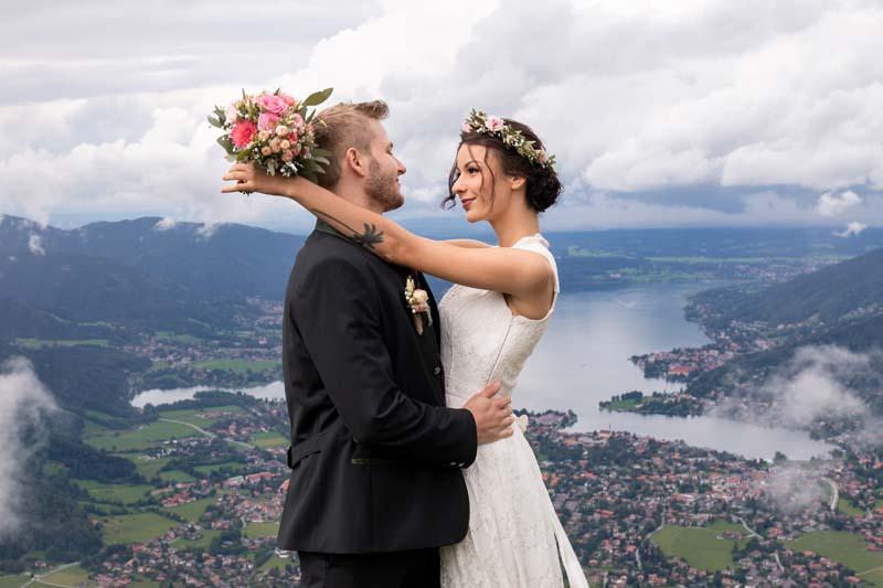 Hochzeitsshooting am Wallberg – Tegernsee